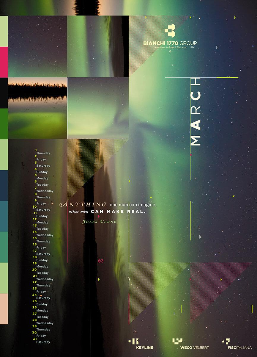 Designer Calendar March page