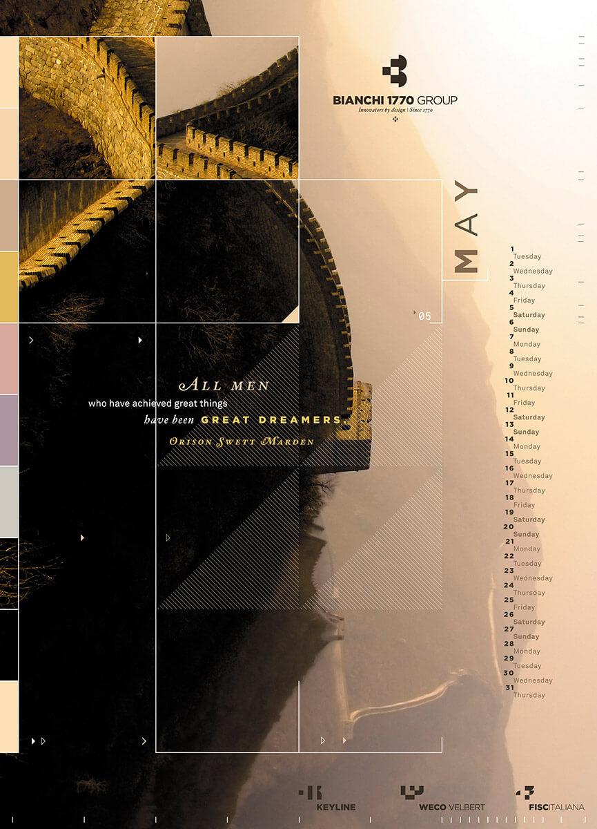 Designer Calendar May page