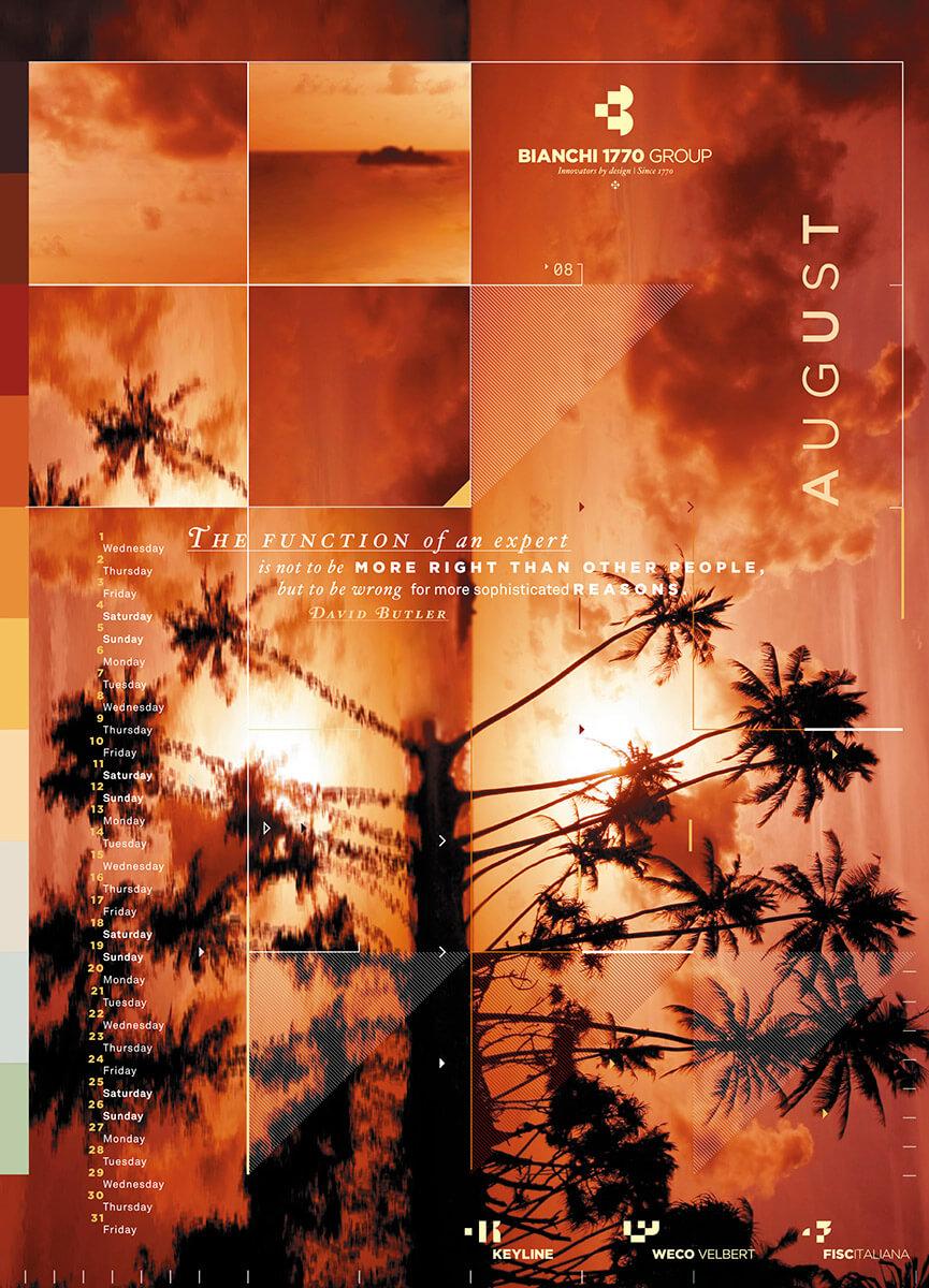 Designer Calendar August page