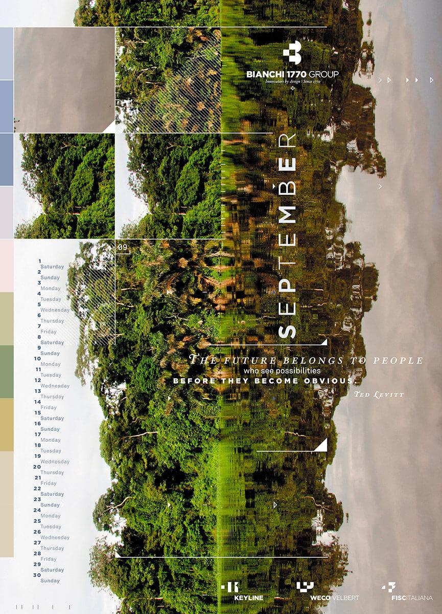 Designer Calendar September page