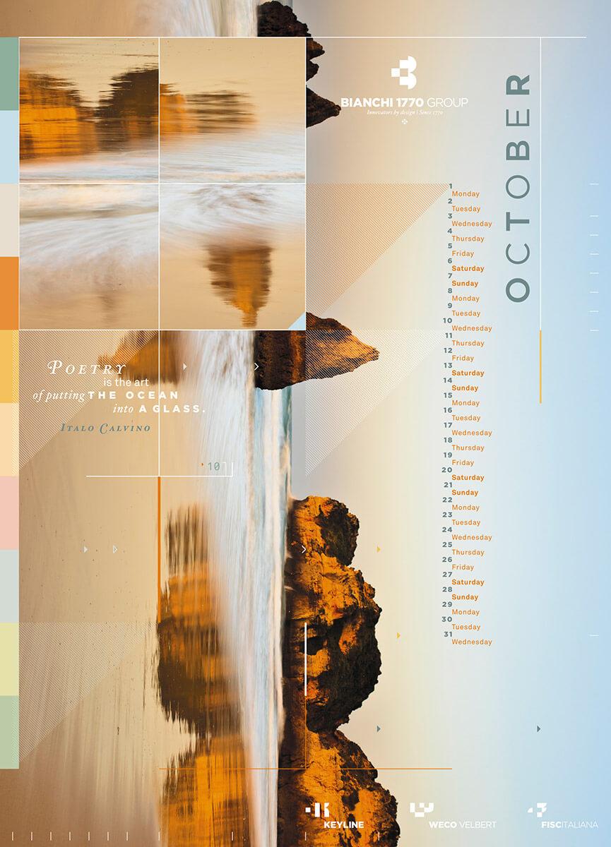 Designer Calendar October page