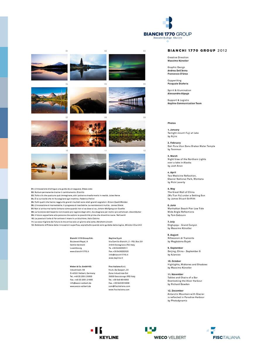 Designer Calendar back cove