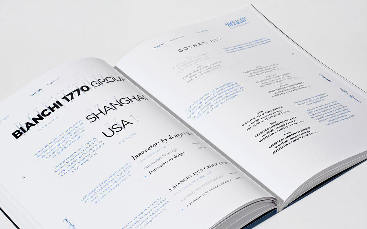 Bianchi 1770 Group Rebranding - Guidelines Manual Spread 3