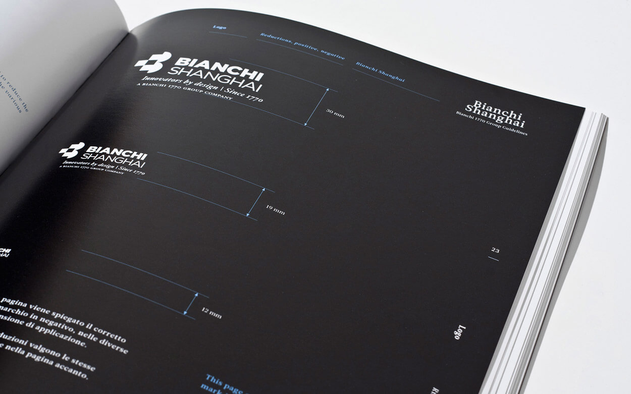 Bianchi 1770 Group Rebranding - Guidelines Manual Spread 4