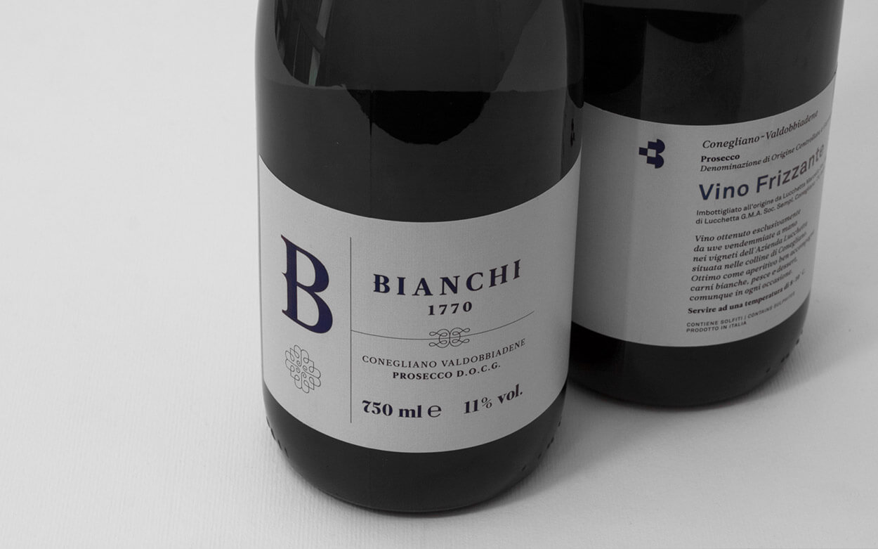 Bianchi 1770 Group Rebranding - Wine Bottles