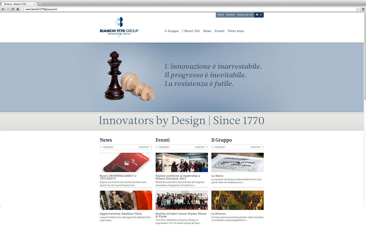 Bianchi 1770 Group Rebranding - Web Site 1