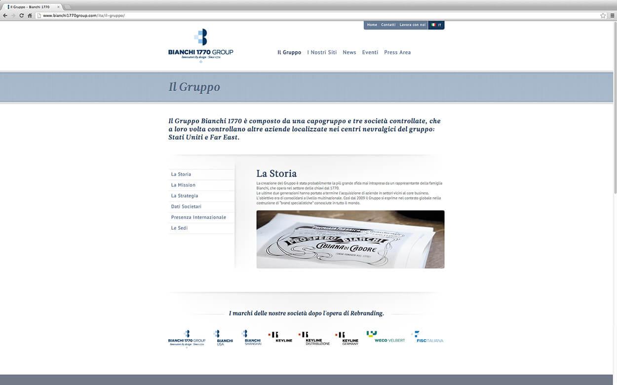Bianchi 1770 Group Rebranding - Web Site 2