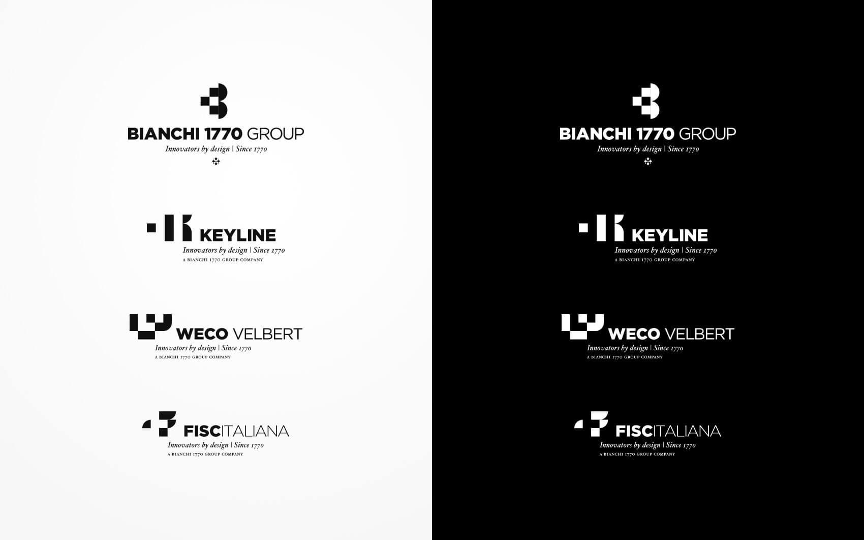 Bianchi 1770 Group Rebranding - Brand Logos