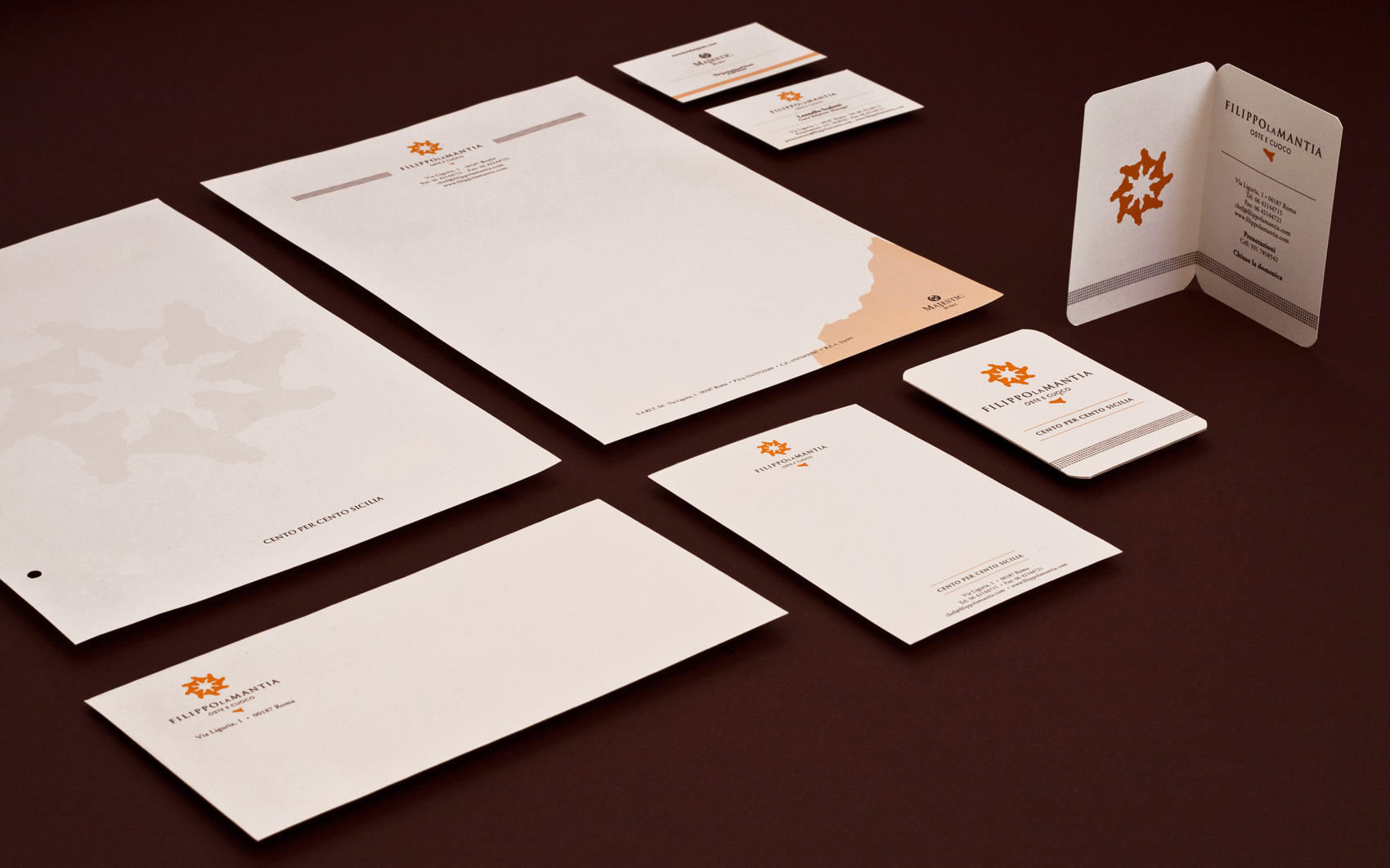Filippo La Mantia Rebranding - Stationery