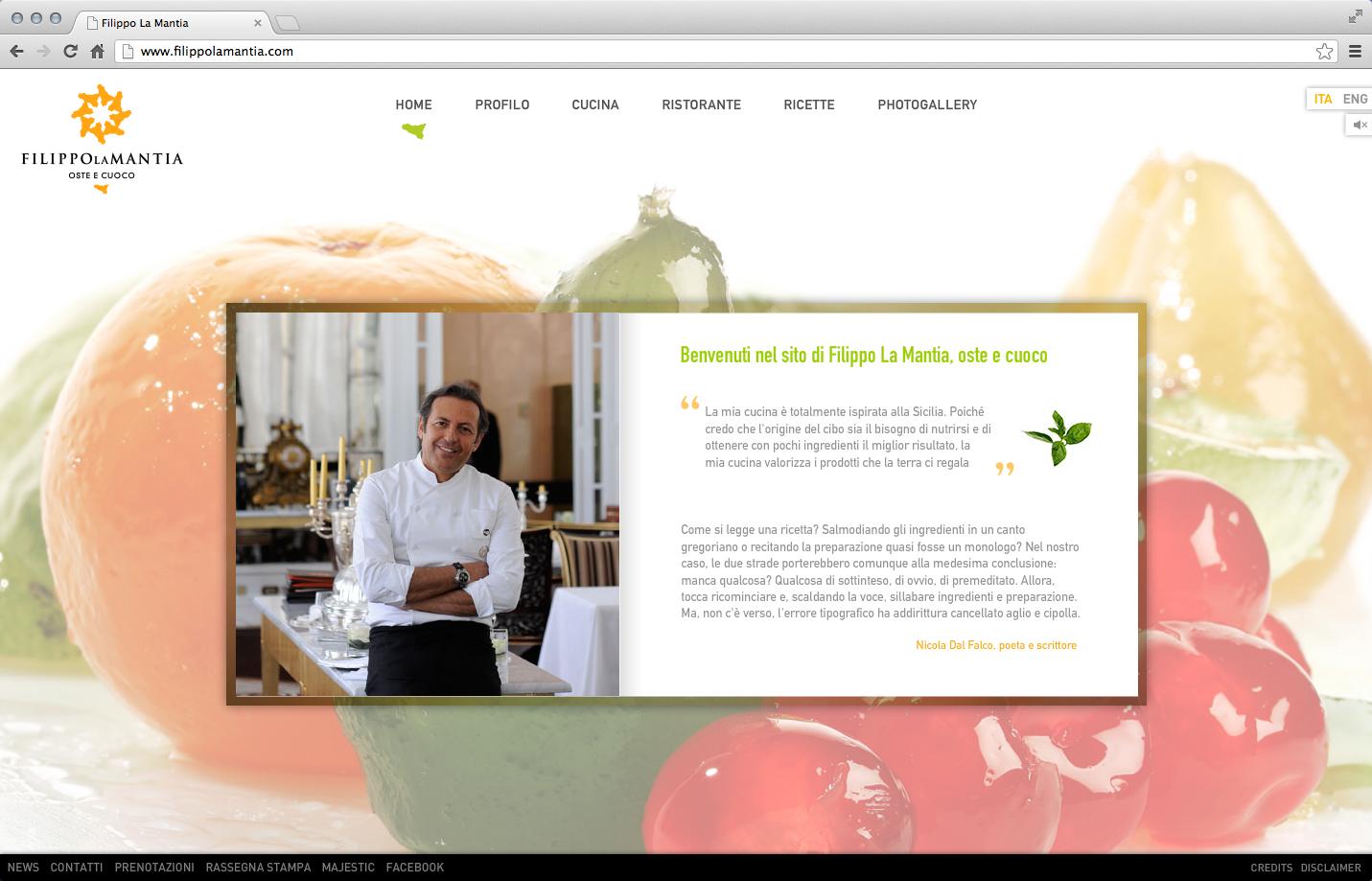 Filippo La Mantia Rebranding - Web site 1