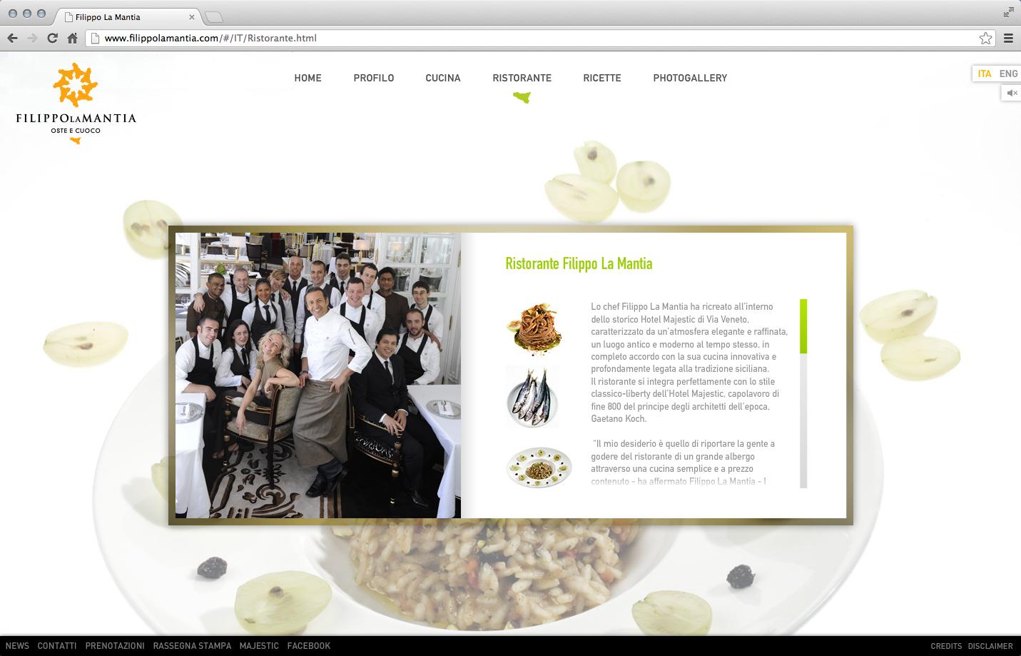 Filippo La Mantia Rebranding - Web Site 2