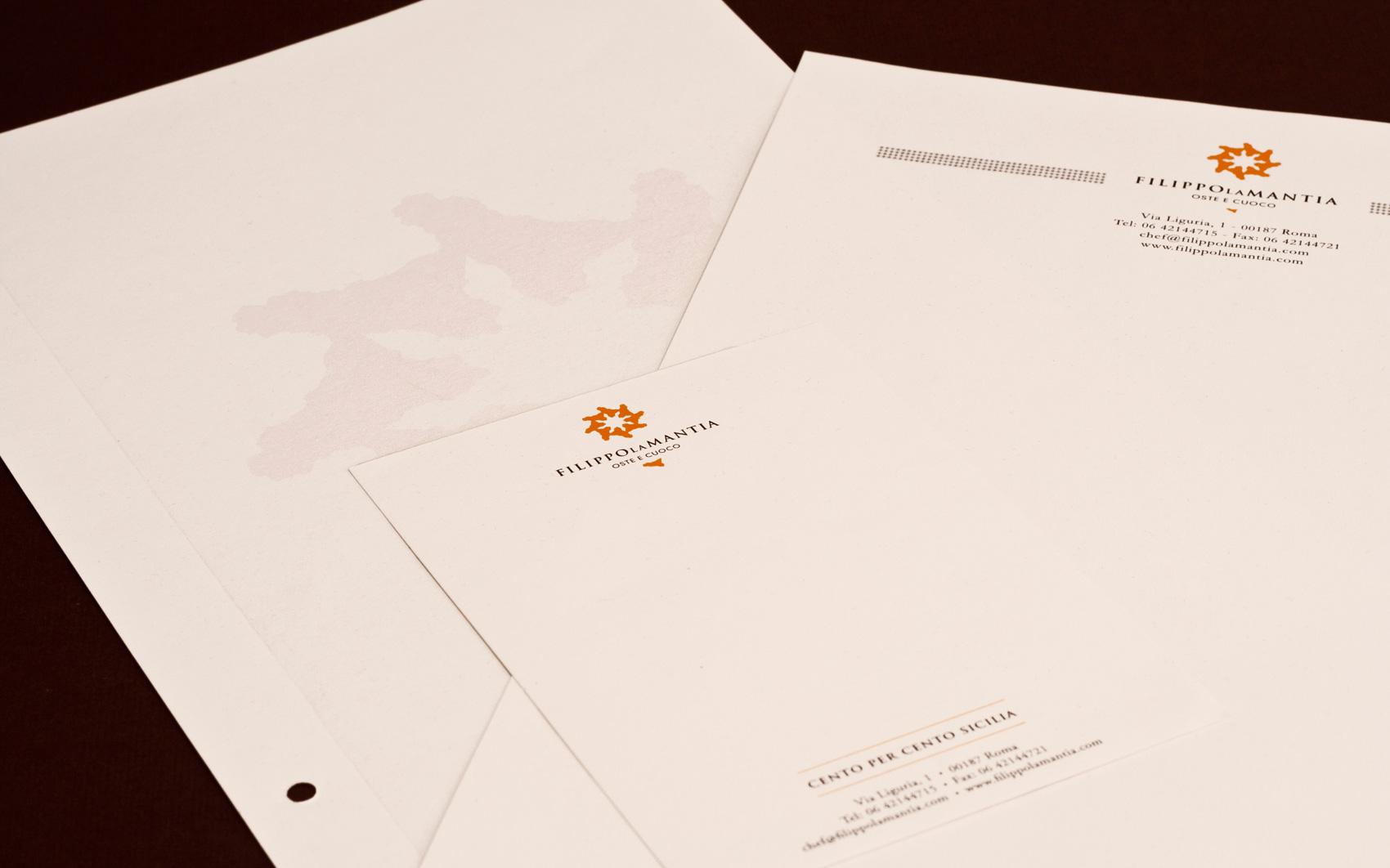 Filippo La Mantia Rebranding - Letterheads