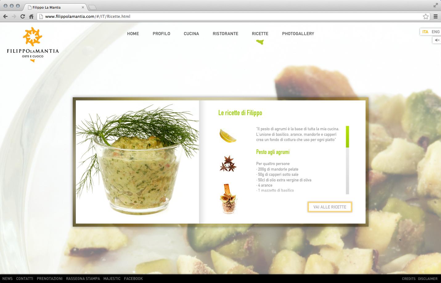 Filippo La Mantia Rebranding - Web Site 3