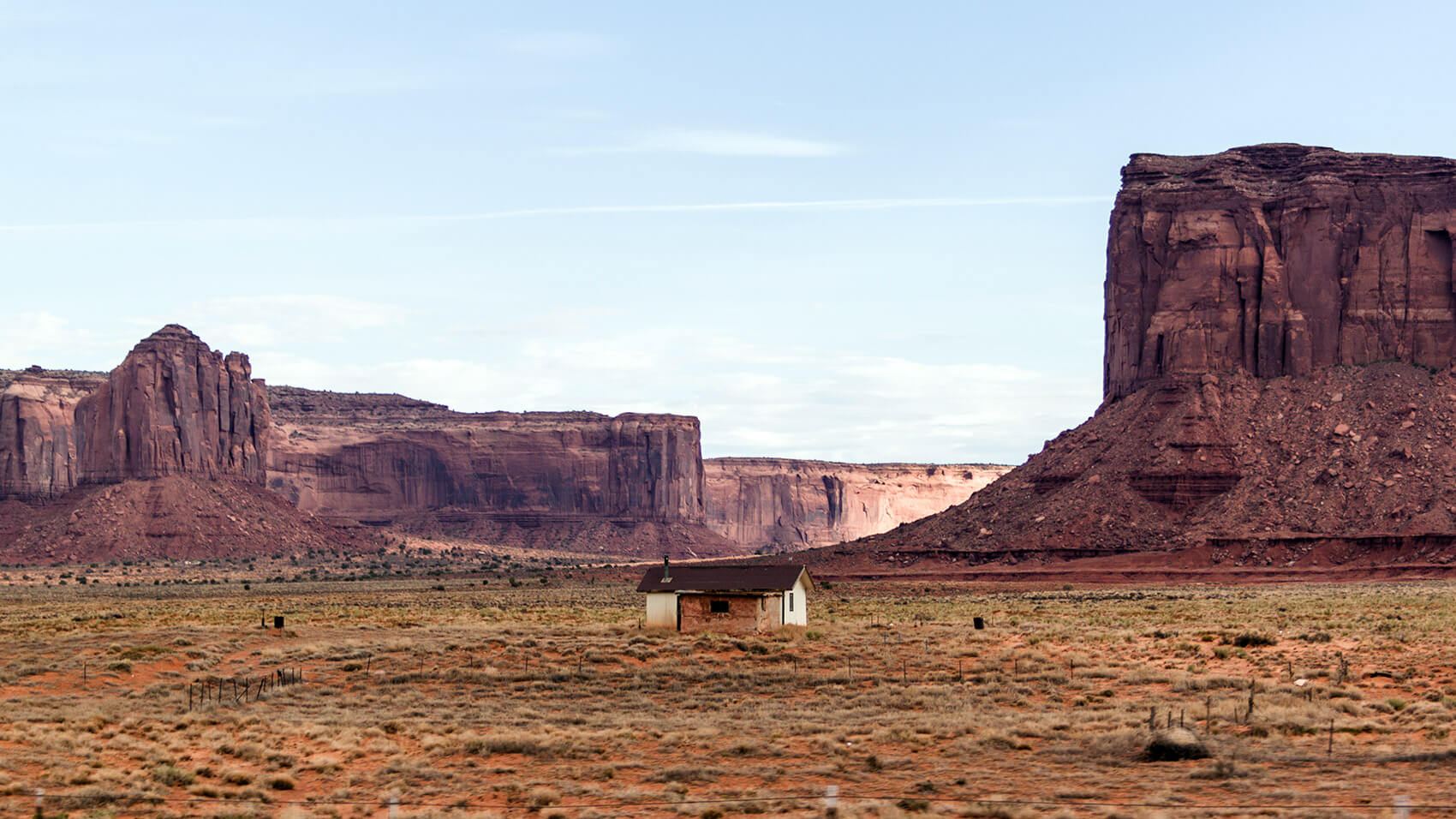 A hut in Monument Valley