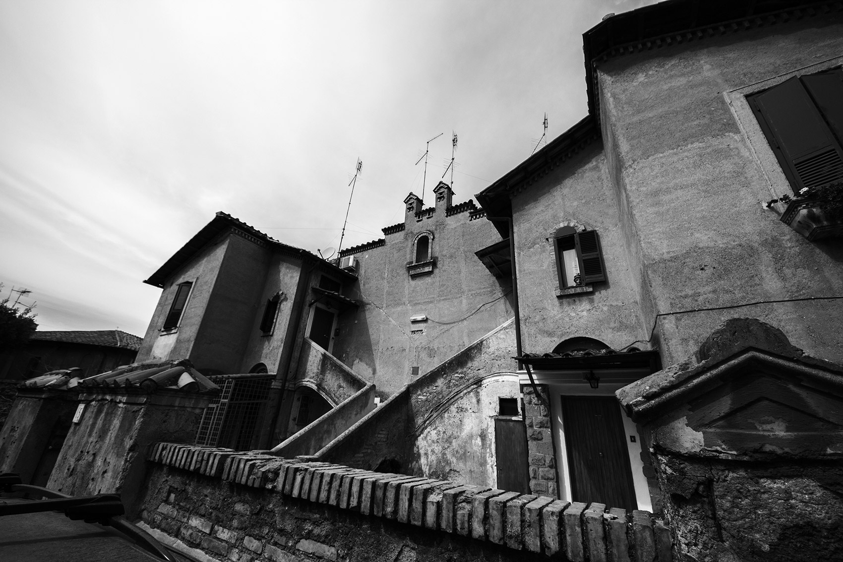 Buildings from the '30s in Garbatella, Rome.