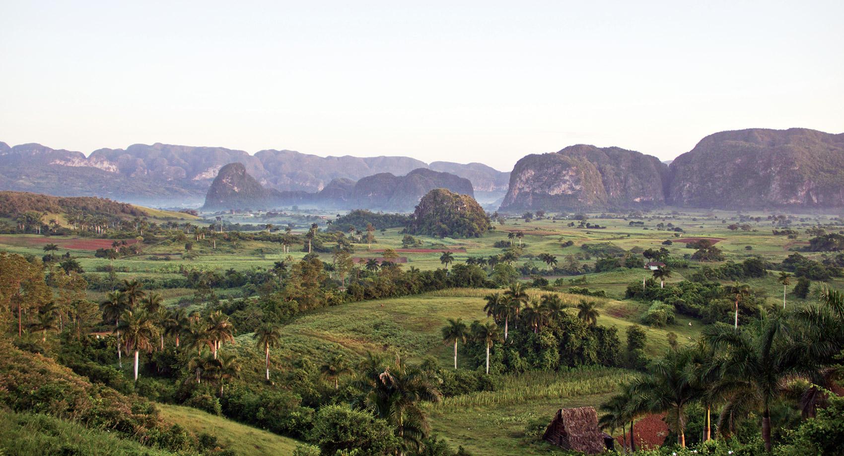 View over Viñales Mogotes