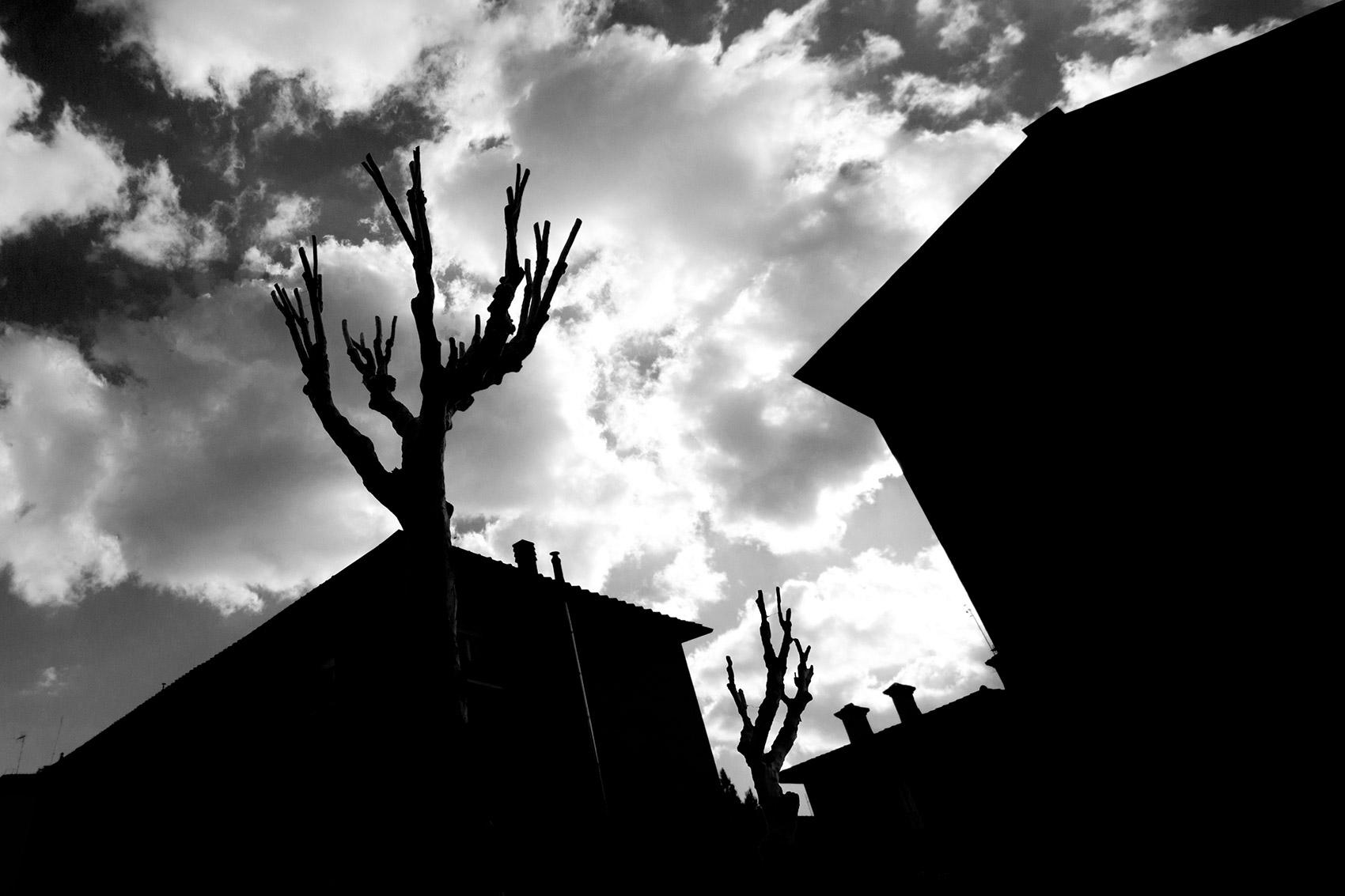 Shadows and Lights in La Garbatella, Rome.
