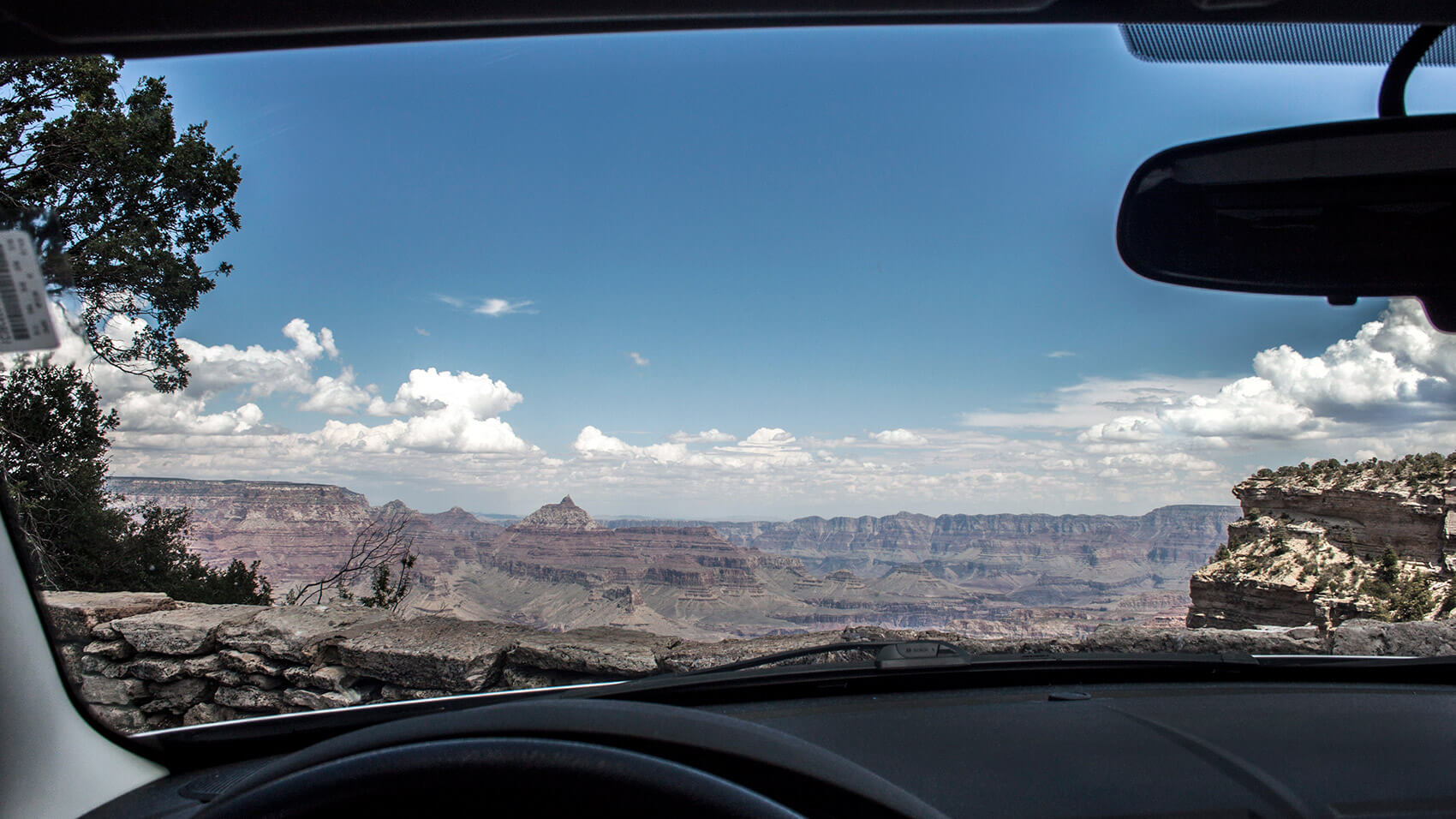Getting ready to leave the car before facing the breathtaking view.