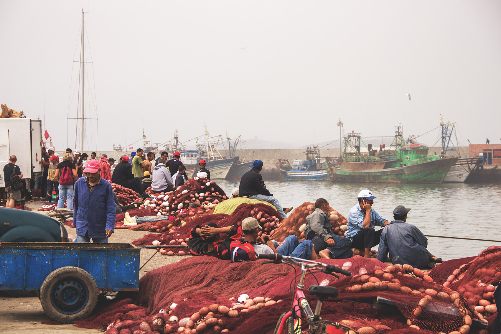 Fishermen in the port of Essaouira