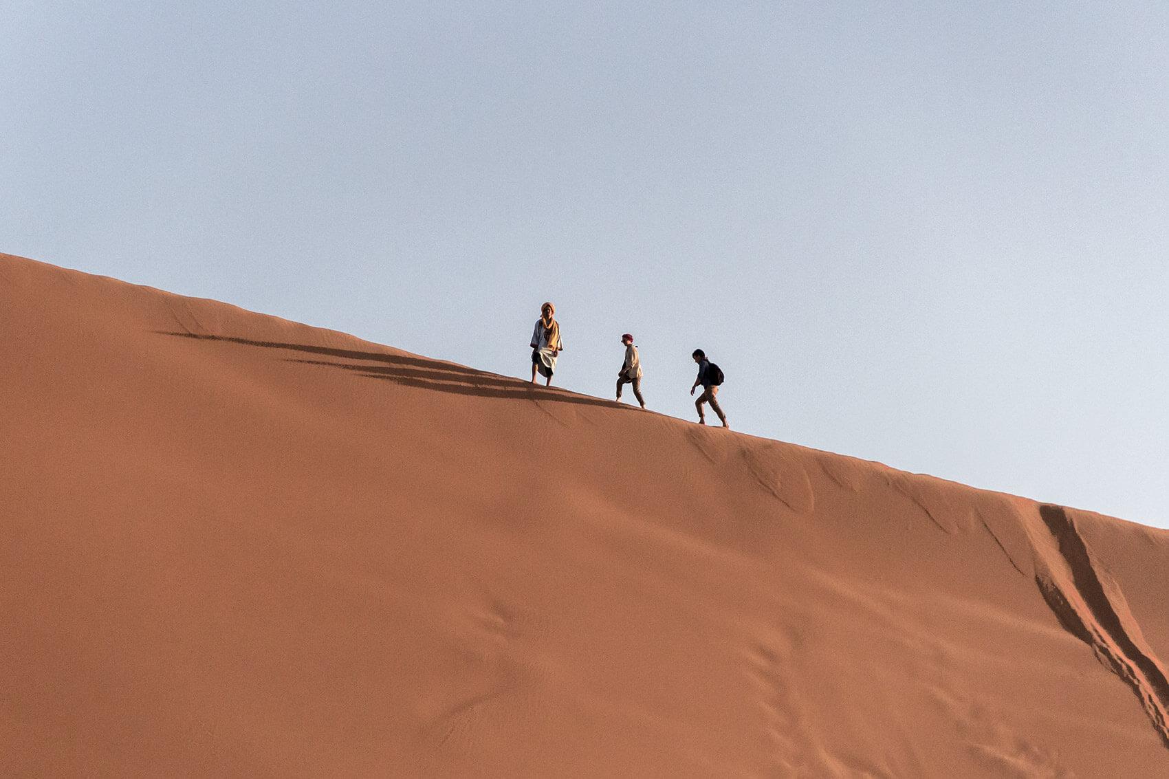 Cruising Erg Chebbi desert