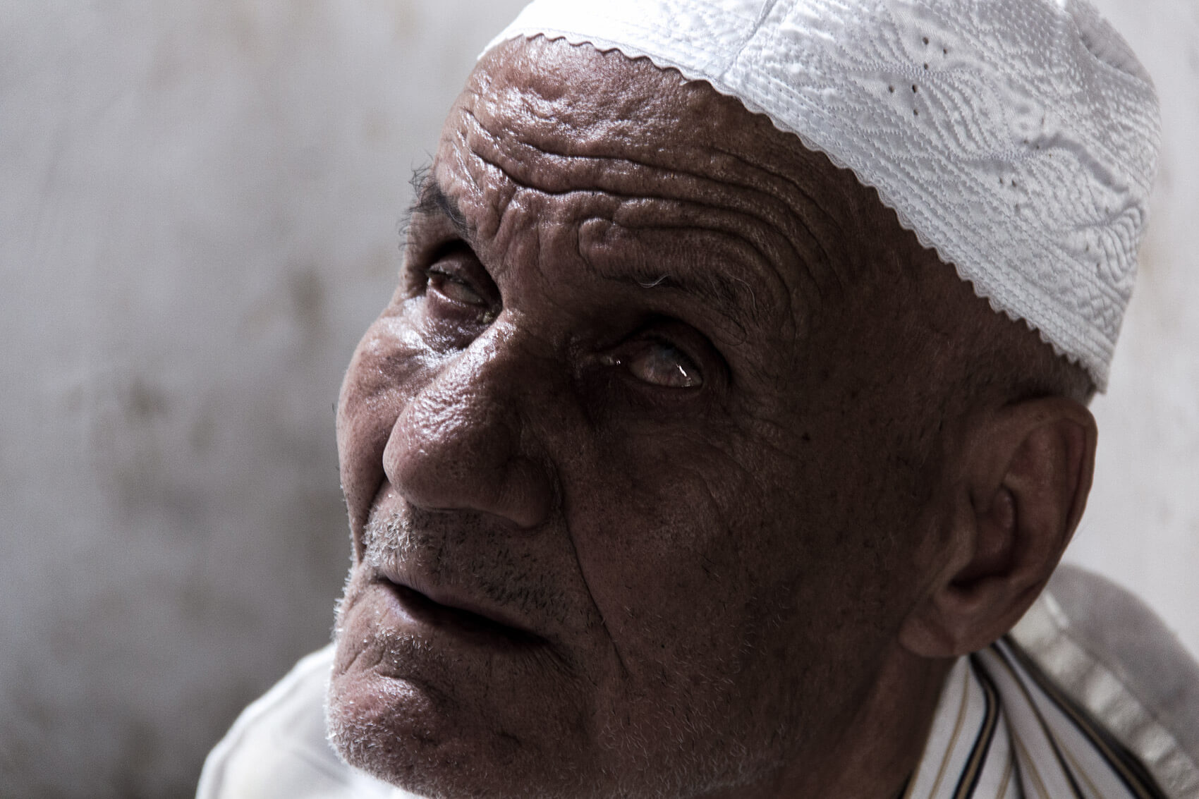 Old blind man in Fes