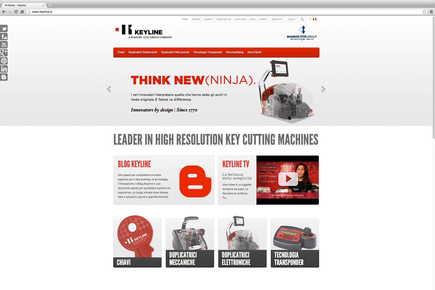 Keyline Website Redesign 2