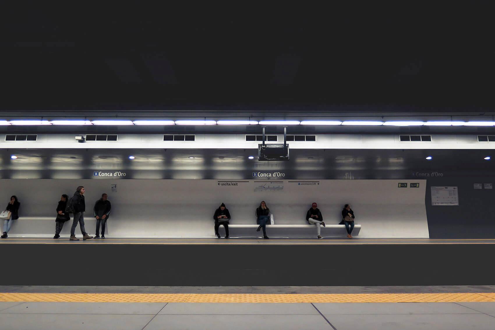Down in an underground station