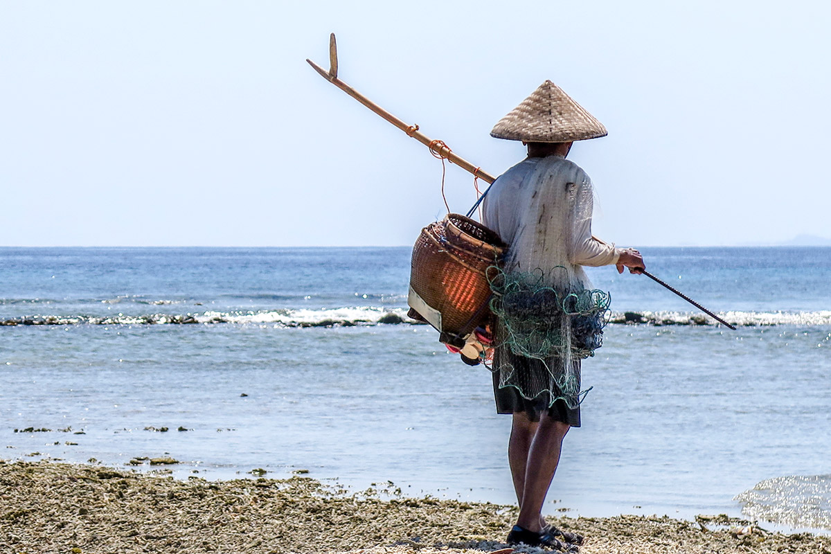 Fisherman in Gili island.