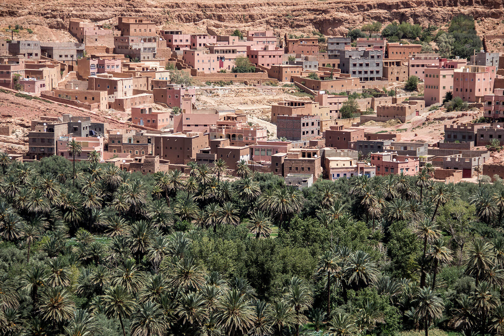 Oasis and city of Boumalne