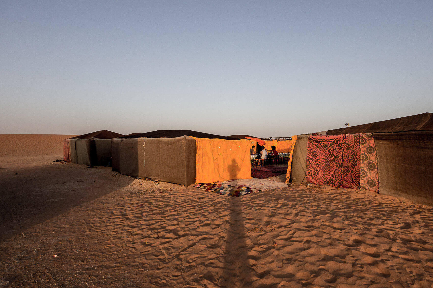Erg Chebbi basecamp at dawn