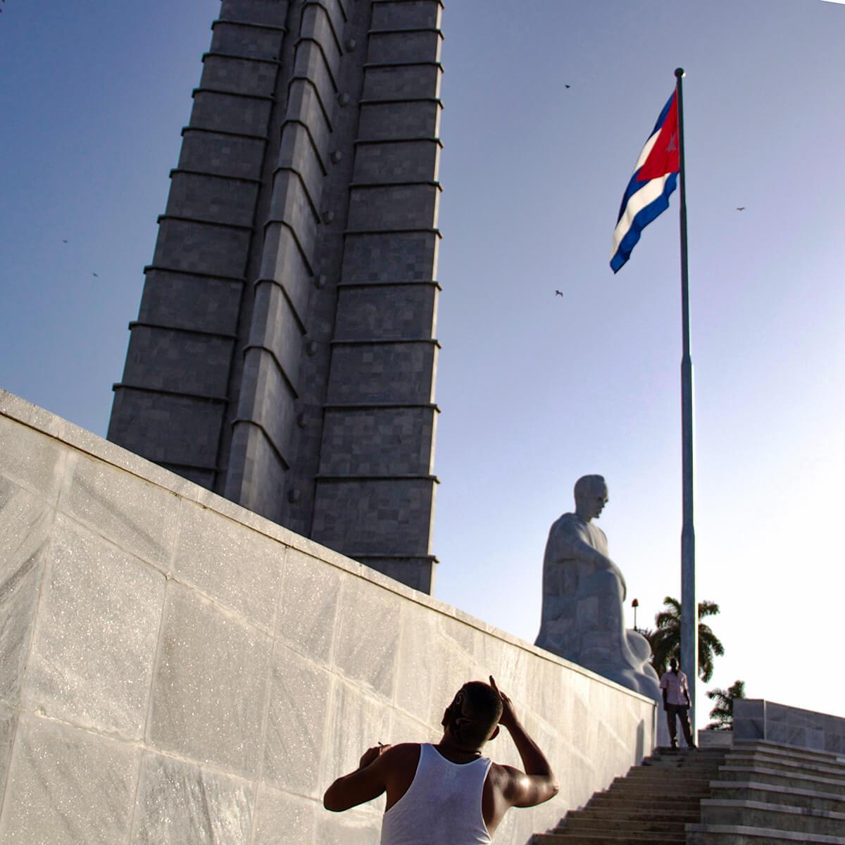 Represent Cuba. Shot at Plaza de la Revolucion in La Habana de Cuba.