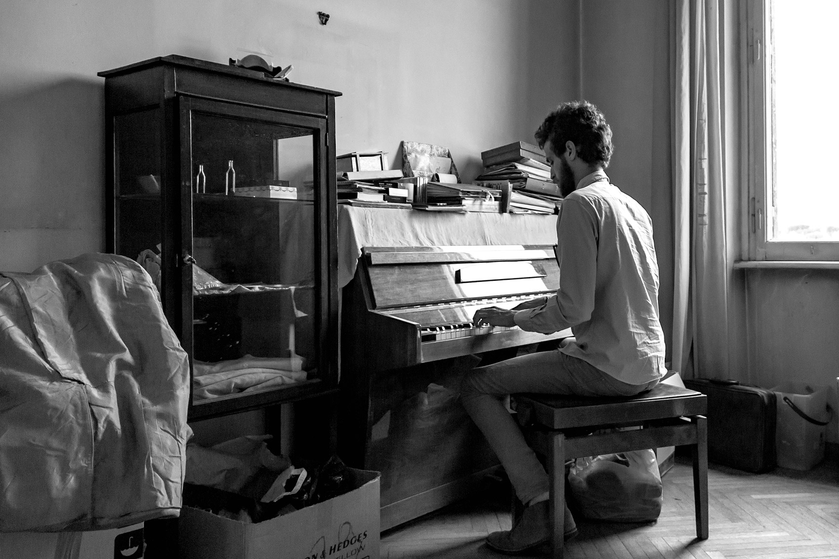 Playing Piano, Piano. Piano, in Italian, means slowly, or quiet.