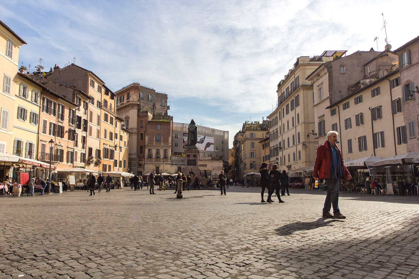 A view of Campo de' Fiori (not at market hours).