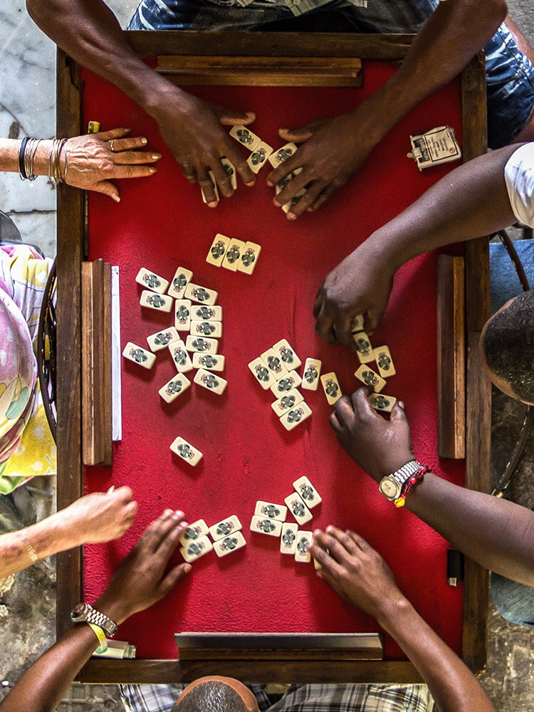 Traditional board game in Cuba.
