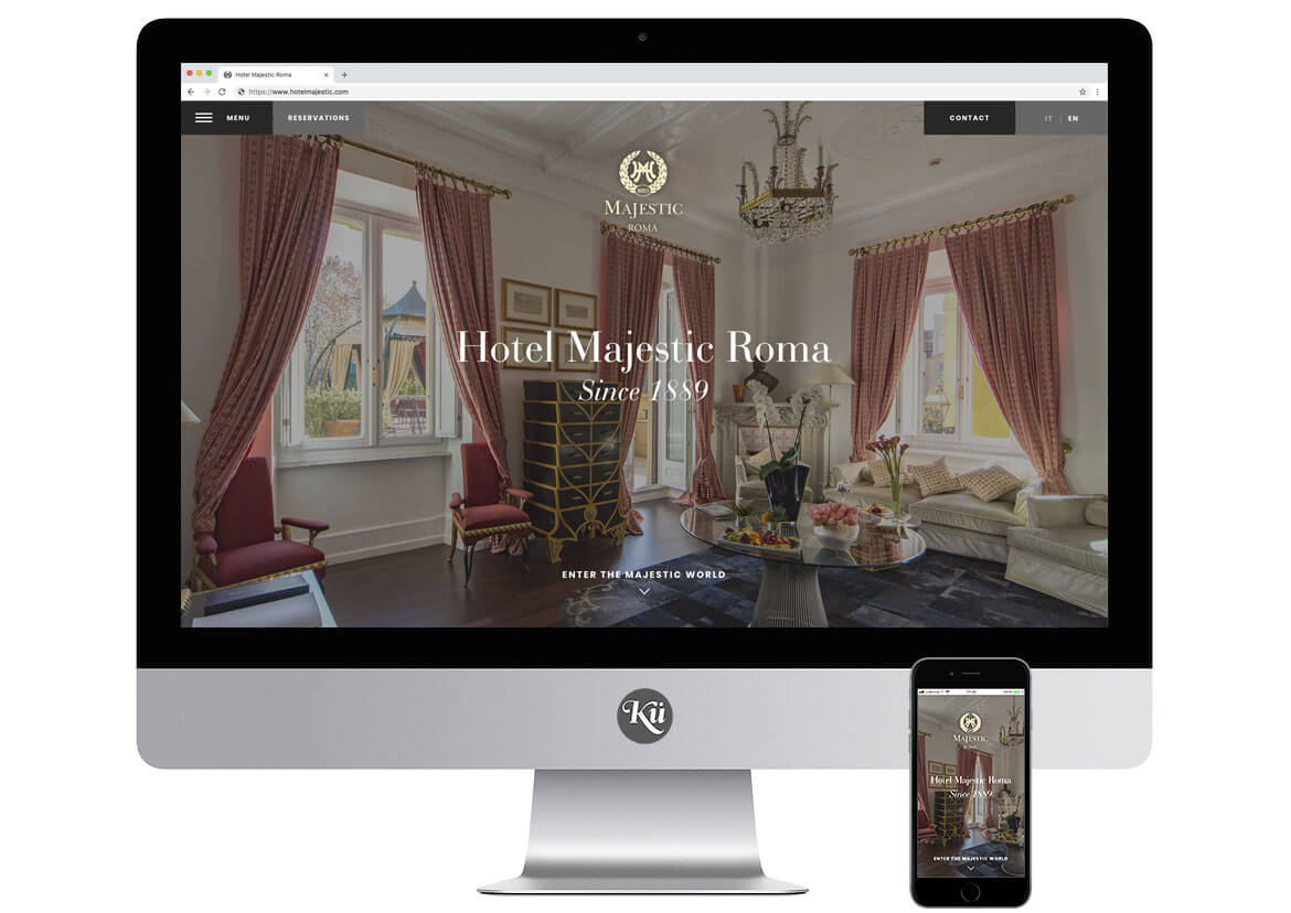 Hotel Majestic Roma Website - Screen 1