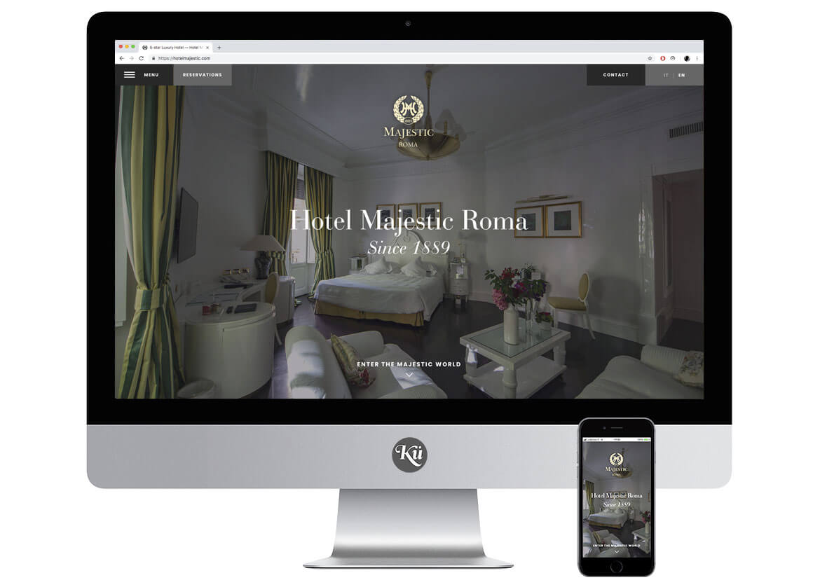 Hotel Majestic Roma Website - Screen 3