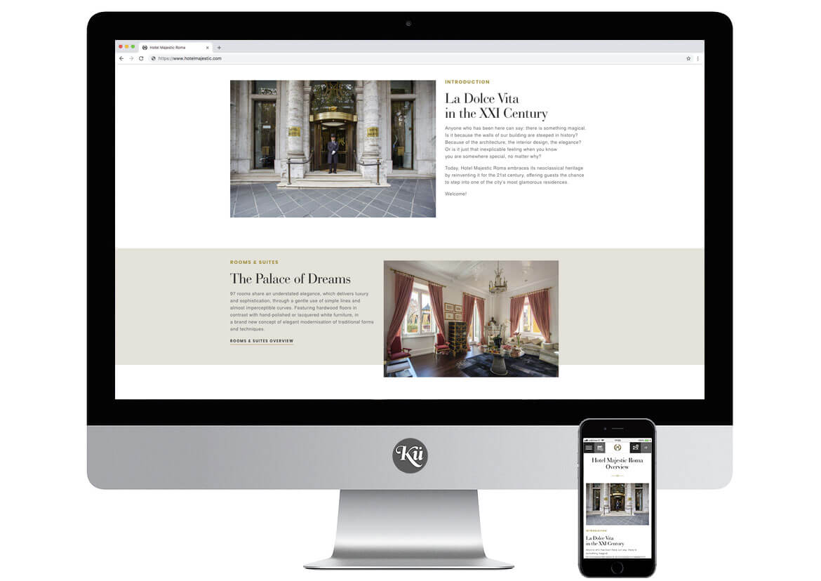 Hotel Majestic Roma Website - Screen 8